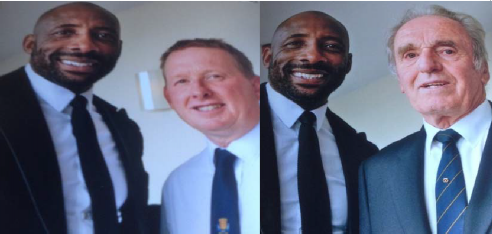 Gary 'Snapper' Bate and Don Bartlett with the said Johnny Nelson.